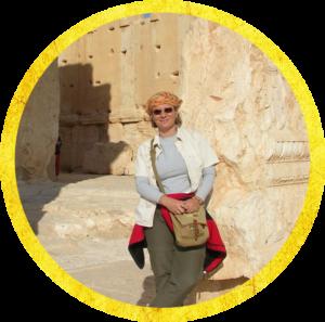 Diny in Petra, Jordanië