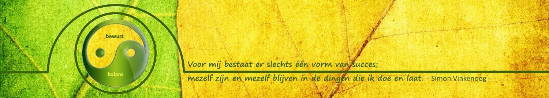 Simon Vinkenoog, Voor mij bestaat er slechts één vorm van succes; mezelf zijn en mezelf blijven in de dingen die ik doe en laat.