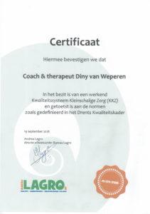 Certificaat kwaliteitsbeoordeling Bureau Lagro