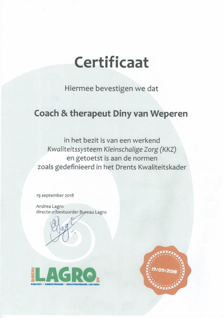 Certificaat Audit september 2018